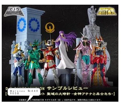 Original Bandai D.D.PANORAMATION scene saint seiya Gold myth cloth Shiryu Shun shaka Athena Seiya action figure Model 10CM mini block saint seiya bronze saints diamond building blocks shiryu ikki super hyoga shun cartoon toys limited collection value