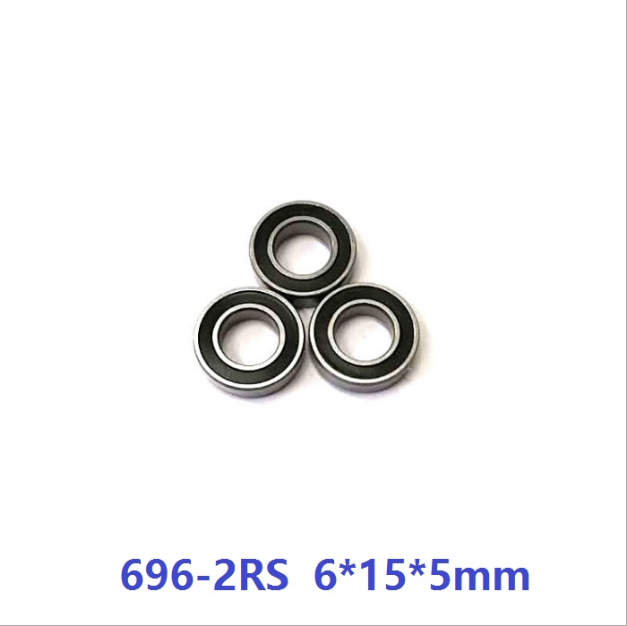 683-2RS Rubber Sealed Ball Bearing Bearings 683RS 3x7x3 mm 20 Pcs BLUE