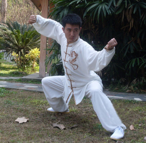 Custom Made Martial Arts Uniform Rayon Cotton Kung Fu Tai Chi Suits Embroidery Dragon