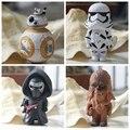 Star Wars despierta BB8 Stormtrooper Darth Vader Chewbacca de PVC colgante guerra espacial BB-8 figura de acción juguetes llavero regalo para los niños