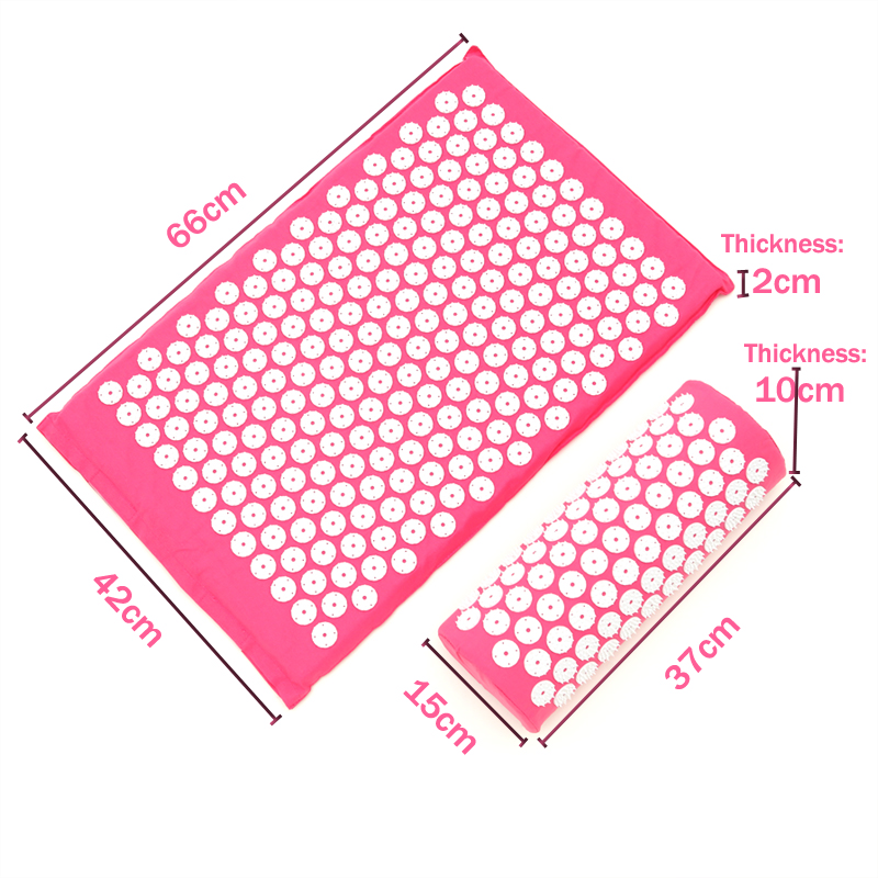 Massager(66*42cm)ABS Spike Acupressure Mat Massage Cushion Acupuncture Yoga Relieve Pain Improve Sleep Free Shipping