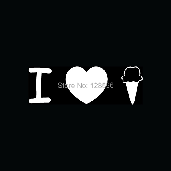I love ice cream sticker for car window vinyl decal cute funny gift chocolate vanilla cold