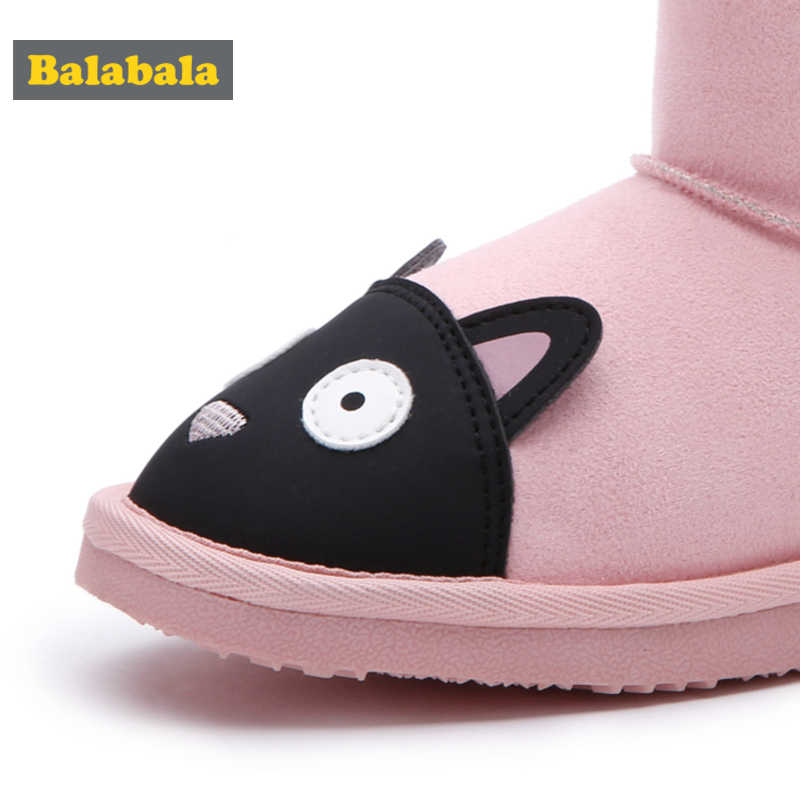 Balabala フェイク毛皮の裏地生き物ブーツ子供キッズ幼児ガールでベルベットバックで弓とアンチスリップソールフットウォーマー