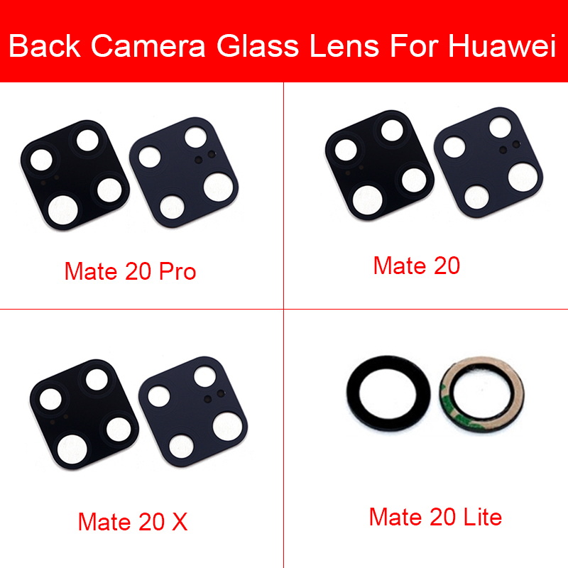 Rear Camera Lens For Huawei Mate 20 Pro Lite 20X Back Camera Glass Cover Protection Lens Module Frame Holder Replacement Parts