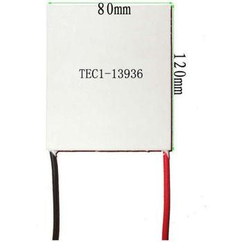 80x120x4.6mm 36A 17V 339.7W TEC1-13936 Thermoelectric Cooler Peltier Heatsink