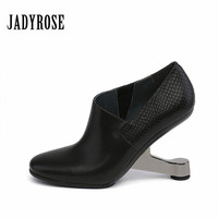 Jady Rose 2019 Fashion Women's Shoes Winter Autumn Ankle Boots Gladiator Strange Style High Heel Shoes Women Pointed Toe Sandals