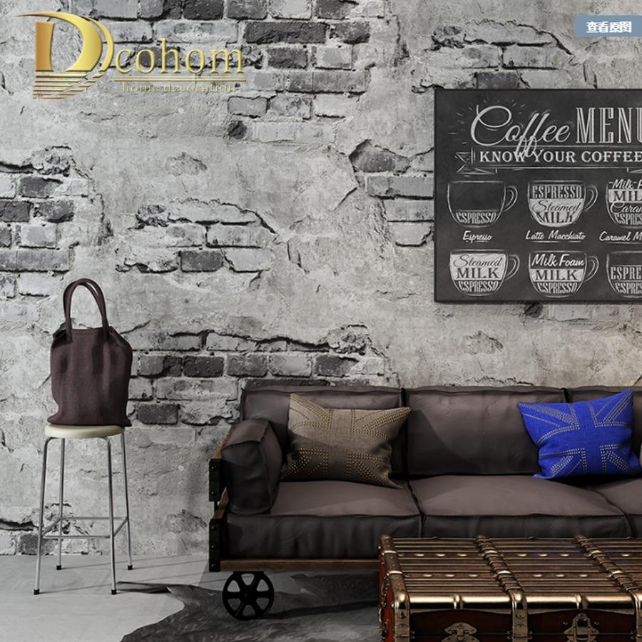 Retro Industrial Loft Wall Paper Red Black Grey Yellow Washable Rustic Vintage 3D Faux Brick Wallpaper Roll Vinyl PVC wallpapers youman 3d wall paper brick stone roll vinyl pvc retro wall paper black washable luxury stone brick wall decor wall