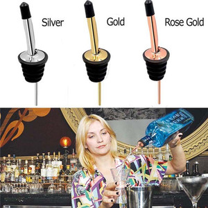 Stainless Steel Leakproof Wine Pourers Liquor High Quality Liquor Pour Spouts with Cap Covers for Bars, Clubs ,Restaurant