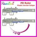 2pcs Optometry Plastic Vernier Caliper Designed PD Pupil Testing Ruler Meter Measurer Tester Pupilometer PDR06 Free Shipping