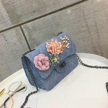 xiniu Women Canvas Applique Floral Phone Shoulder Bag Totebags for women 2017  bolsa feminina  sac a main