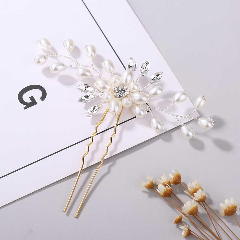 Festival accesorios para el cabello de Boda nupcial horquilla Floral hermoso adorno para el pelo trenza de pelo Clip accesorios de vid