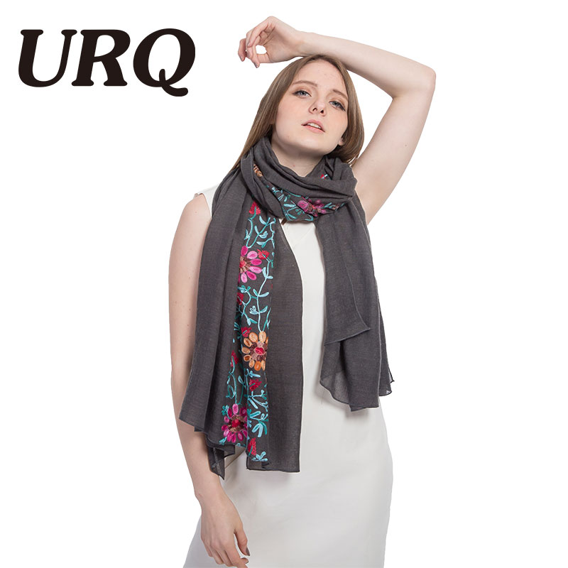 90*180 long big size embroidered hijab scarves floral viscose shawl ethnic japanese...
