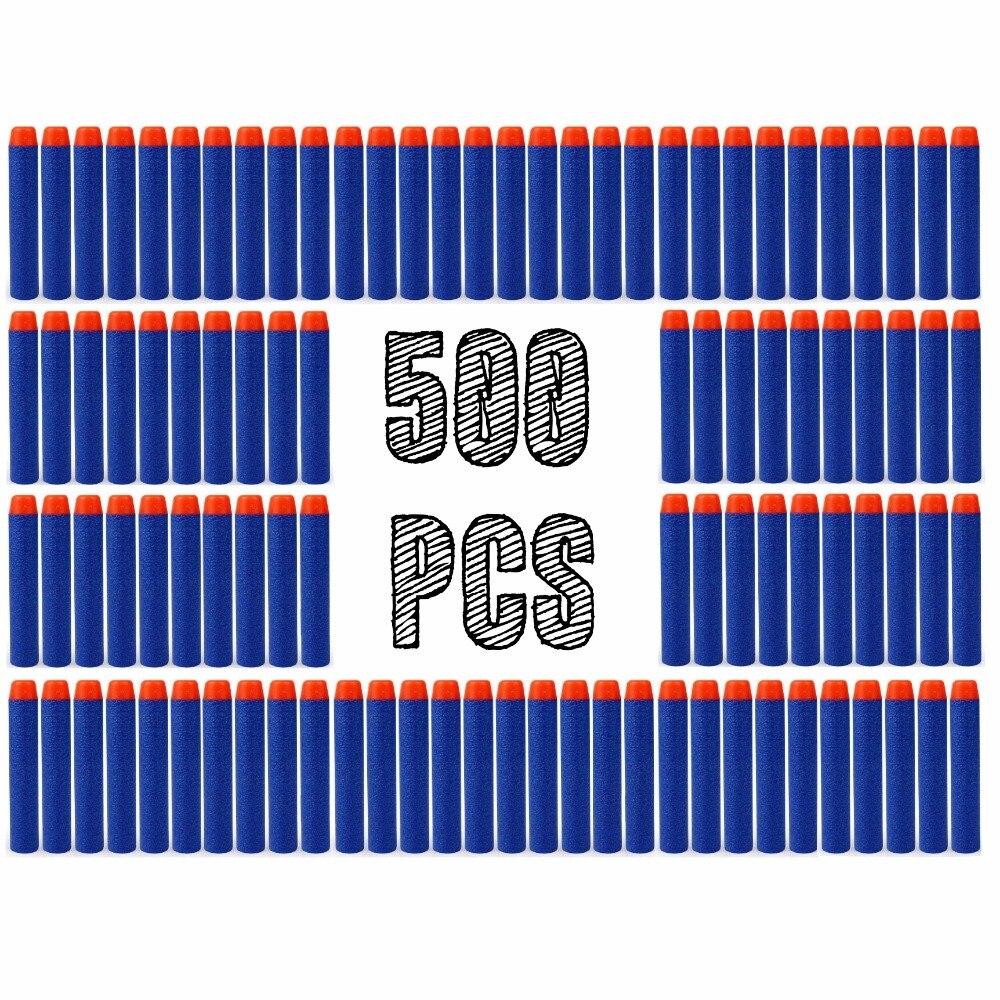 500 PCS Jouet Pistolet Mousse EVA Balle Molle pour nerf n-strike Elite Sucker Rampage/Retaliator Série Blasters recharge Clip Fléchettes pour enfant