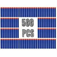 500 SZTUK Zabawka Pistolet Pianki EVA Miękkie Bullet for nerf n-strajku Elite Rampage Frajerem/Retaliator Seria Blasters Refill Rzutki Klipu dla kid