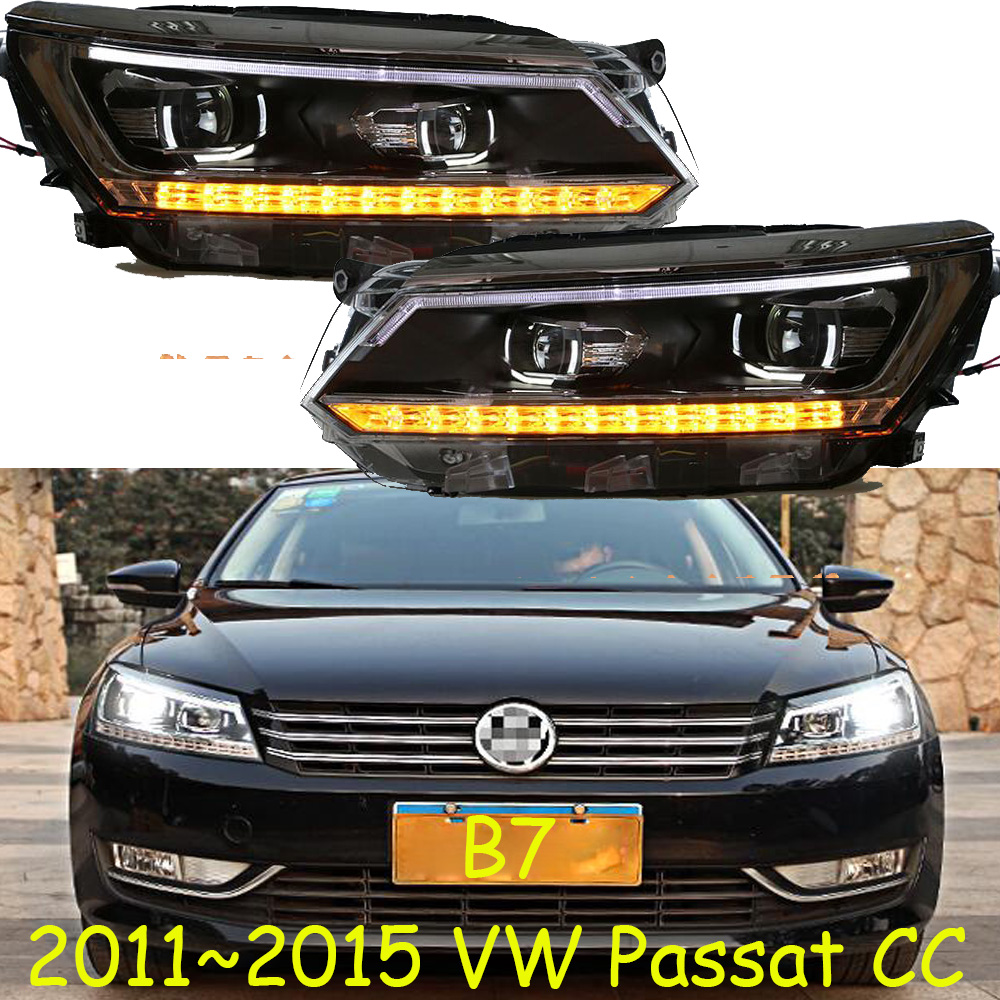 2 pièces dynamique vidéocar style pour Passat B7 phares 2011 2012-2015 amérique Passat CC phare LED DRL Bi xénon lentille