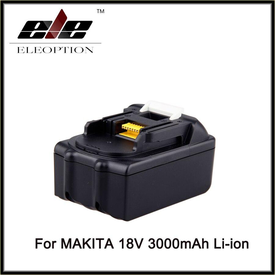 ELEOPTION for Makita 18V 3000mAh Power Tool Battery Pack for BL1830 BL1840 Recharegeable Battery Cordless Drill Li-ion Batteries eleoption for makita 18v 3000mah power tool battery pack for bl1830 bl1840 recharegeable battery cordless drill li ion batteries