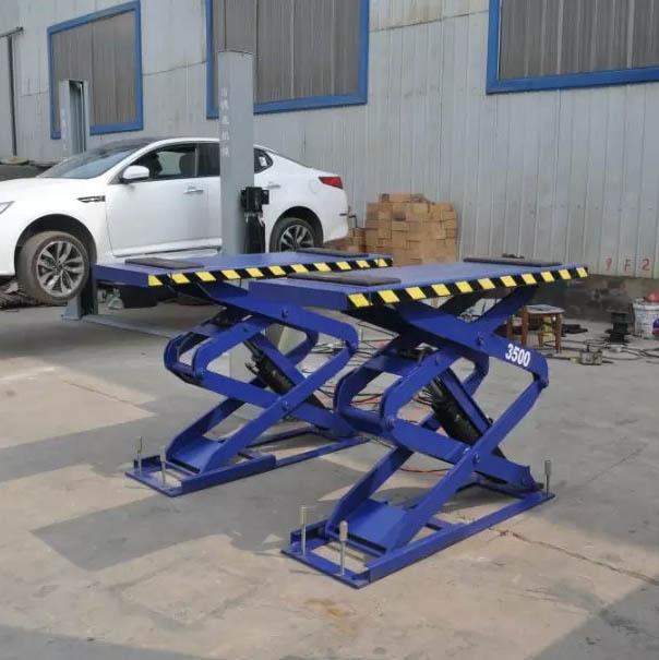 3 5 Ton Scissor Lift In Ground Car Lift Big Platfrom Car Lift