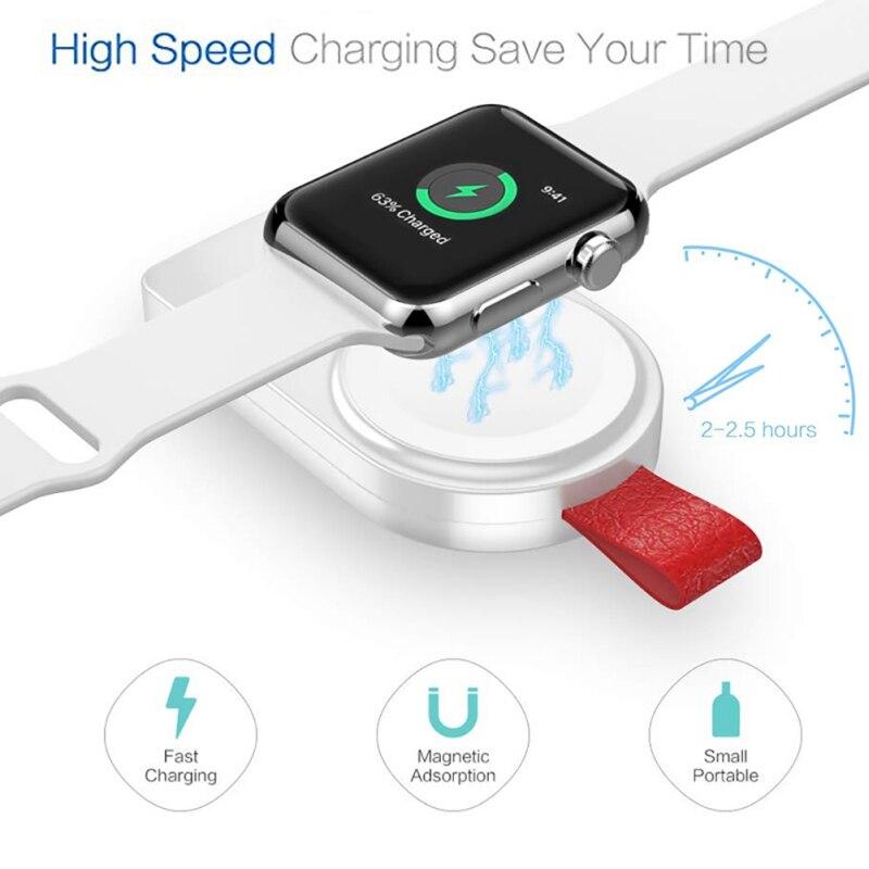 aab0b8bf87b Cargador inteligente portátil adaptador de carga rápida magnético USB para  Apple Watch 1/2/3/4 inalámbrico banco de la energía del cargador