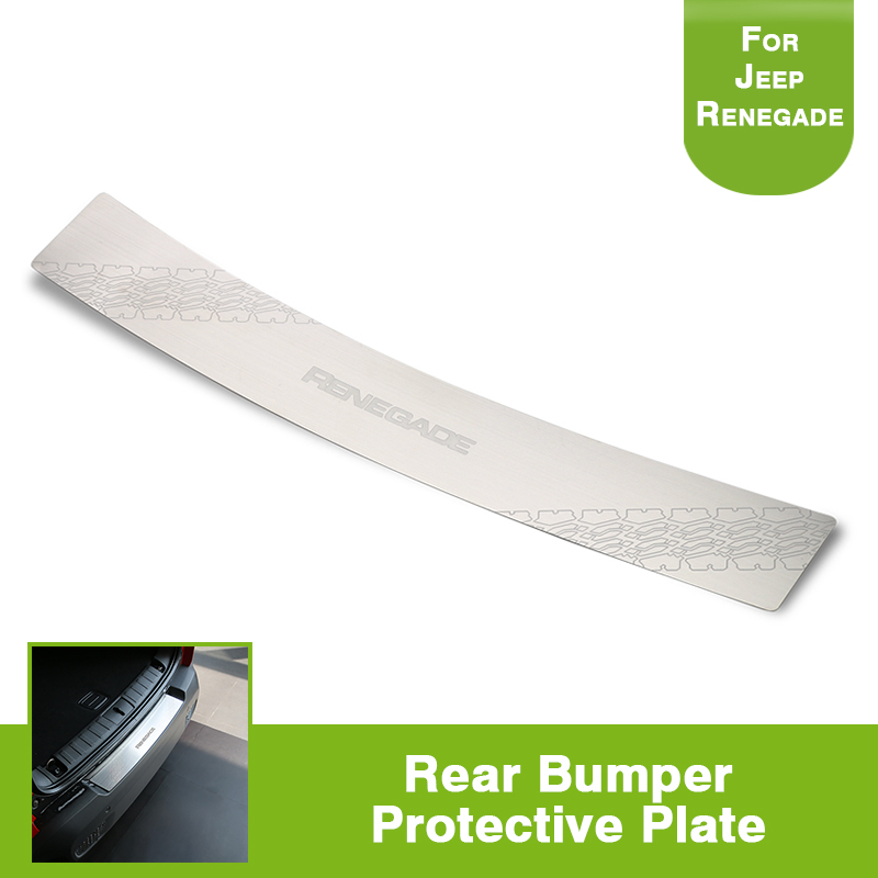Rear Bumper Door Sill Plate Protector Cover Trim Stainless Steel for JEEP Renegade 2015-2017 replacement compatible projector lamp prj rlc 015 for viewsonic pj502 pj552 pj562 projectors