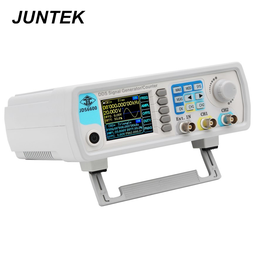 JUNTEK JDS6600 15M 15MHZ Signal Generator Digital Control Dual channel DDS Function Signal Generator frequency meter