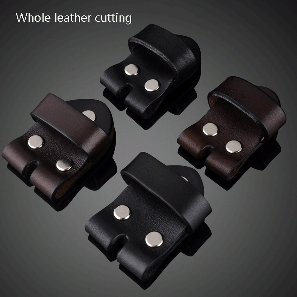 Belt Head Connection Leather Pin Buckle Layer Leather Belt Accessories Without Buckle Apron Leather Ring Head Link Skin