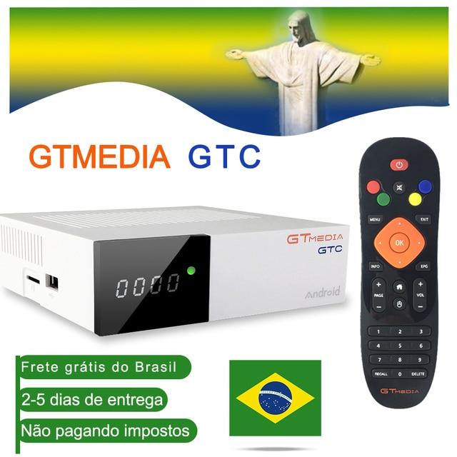GTmedia GTC Android 6.0 TV BOX DVB S2/T2/Cáp/ISDBT Amlogic S905D 2GB RAM 16GB ROM Đầu Thu Vệ Tinh Blutooth Cổ Ở Brasil