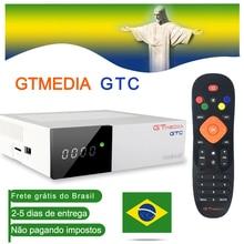Gtmedia gtc android 6.0 tv box DVB S2/t2/cabo/isdbt amlogic s905d 2gb ram 16gb rom receptor de satélite blutooth estoque no brasil