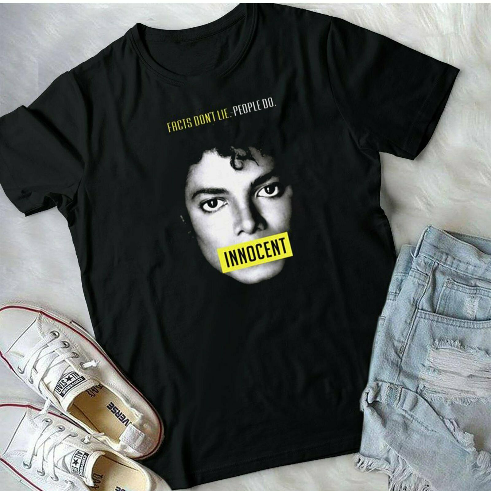 New Michael Jackson Innocent T Shirt Vintage 1982 Mens T Shirt S 3Xl title=