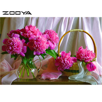 Diy Diamond Painting Flower Vase Diamond Cross Stitch Crystal Square Diamond Sets Unfinished Decorative Diamond Embroidery