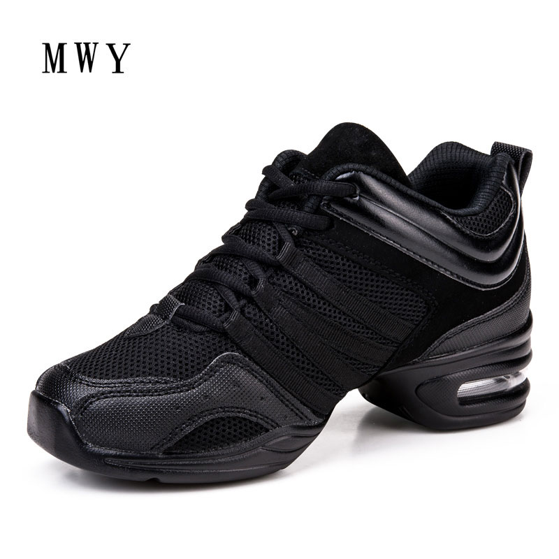 MWY Soft Outsole Breath Dance Shoes Women Sports Feature Dance Sneakers Jazz Hip Hop Shoes Salsa Dancing Shoe Zapatos De Baile