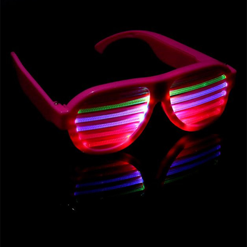 Glowing Toys Flashing Glasses EL Wire LED Glasses Glowing Party Lighting Novelty Gift Bright Light Festival Party Glow Sunglasse