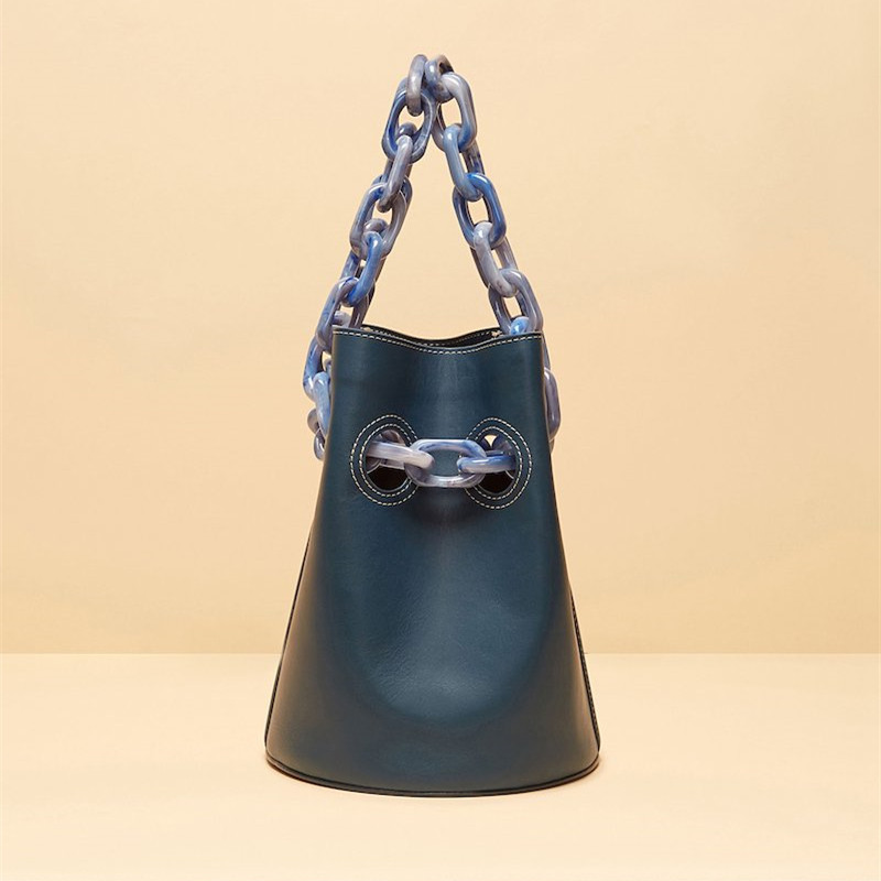 7915b16a15 Bag Female 2018 Autumn and Winter New European and American Matte Bucket Bag  Acrylic Chain Shoulder Cross Body Bag-in Shoulder Bags from Luggage   Bags  on ...