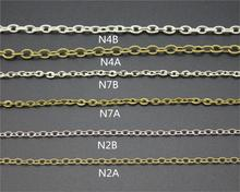 1M Chains 6 Kinds Of Popular DIY Material For Bracelets Necklace Jewelry Findings&Craft