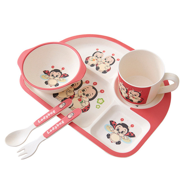 5 Pieces children\u0027s tableware sets baby bowls plates dishes cup fork 17.3  sc 1 st  AliExpress.com & 5 Pieces children\u0027s tableware sets baby bowls plates dishes cup fork ...