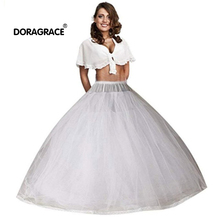 Doragrace 8 Layers Hoopless Ball Gown Bridal Petticoats for Wedding Dress Womens Tulle Underskirt Petticoat Accessories