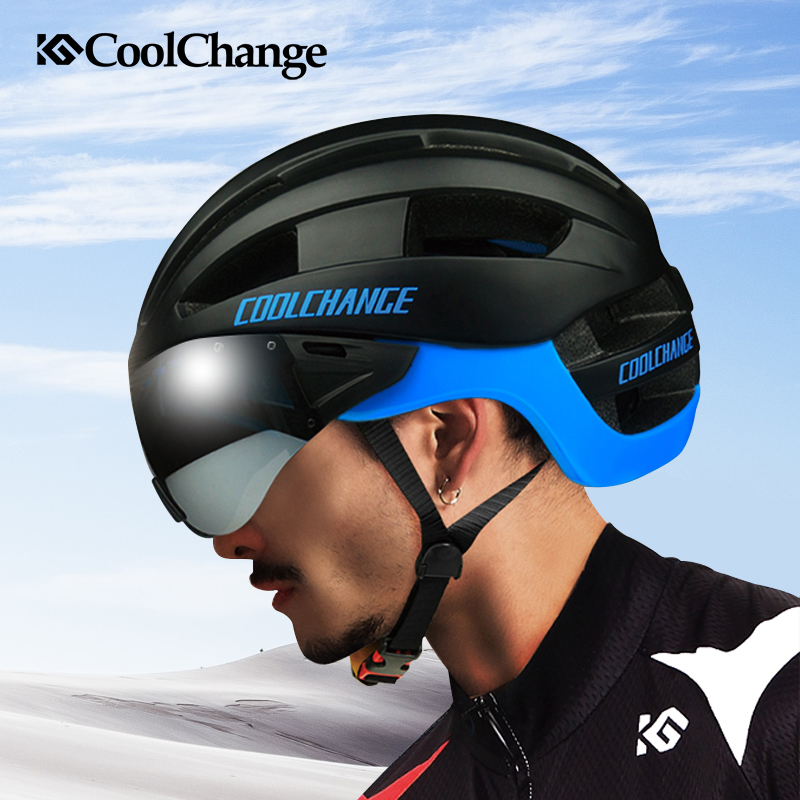 2017 CoolChange Cycling Helmet EPS Windproof Lenses Integrally-molded Bicycle Helmet Men 16 Vents MTB Bike Helmet Casco Ciclismo лак schwarzkopf professional flexible hold pure hairspray