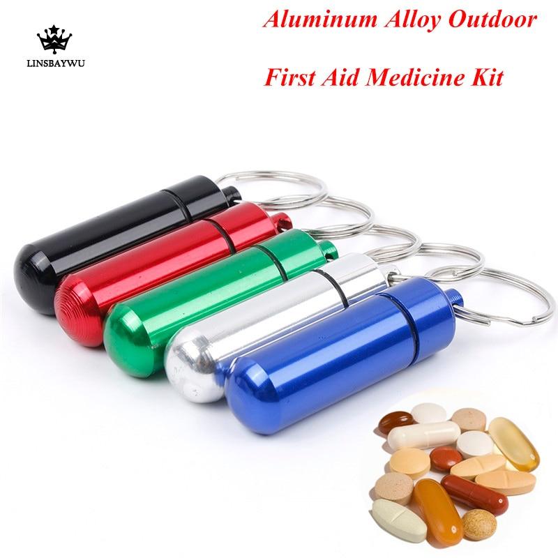 Keychain Bottle-Kits Chain-Seal-Kit First-Aid Aluminum-Alloy Waterproof Pill-Key Outdoor
