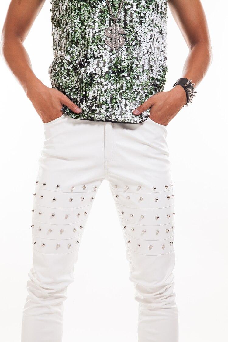 Tamaño Rendimiento Remaches Hombres Ds De Más Moda Cantante Espectáculo Pantalones Traje Los Cuero Bailarín IxEdzTwxq