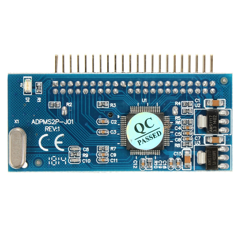 IDE 44 Pin To 16 Pin 1.8 Drive Micro SATA Adapter Card Adapter JM20330 Chipset High Quality