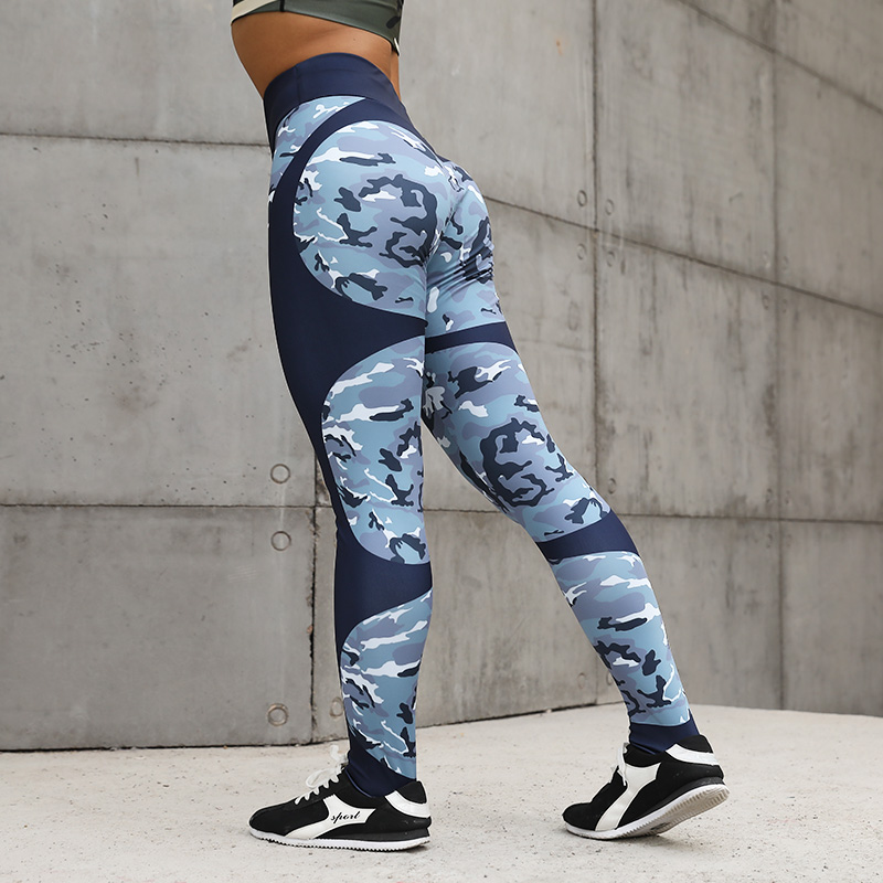 CHRLEISURE Printing Sexy Fitness Leggings Women Heart-shaped Push Up Pants Elasticity Casual High Waist Leggings Long