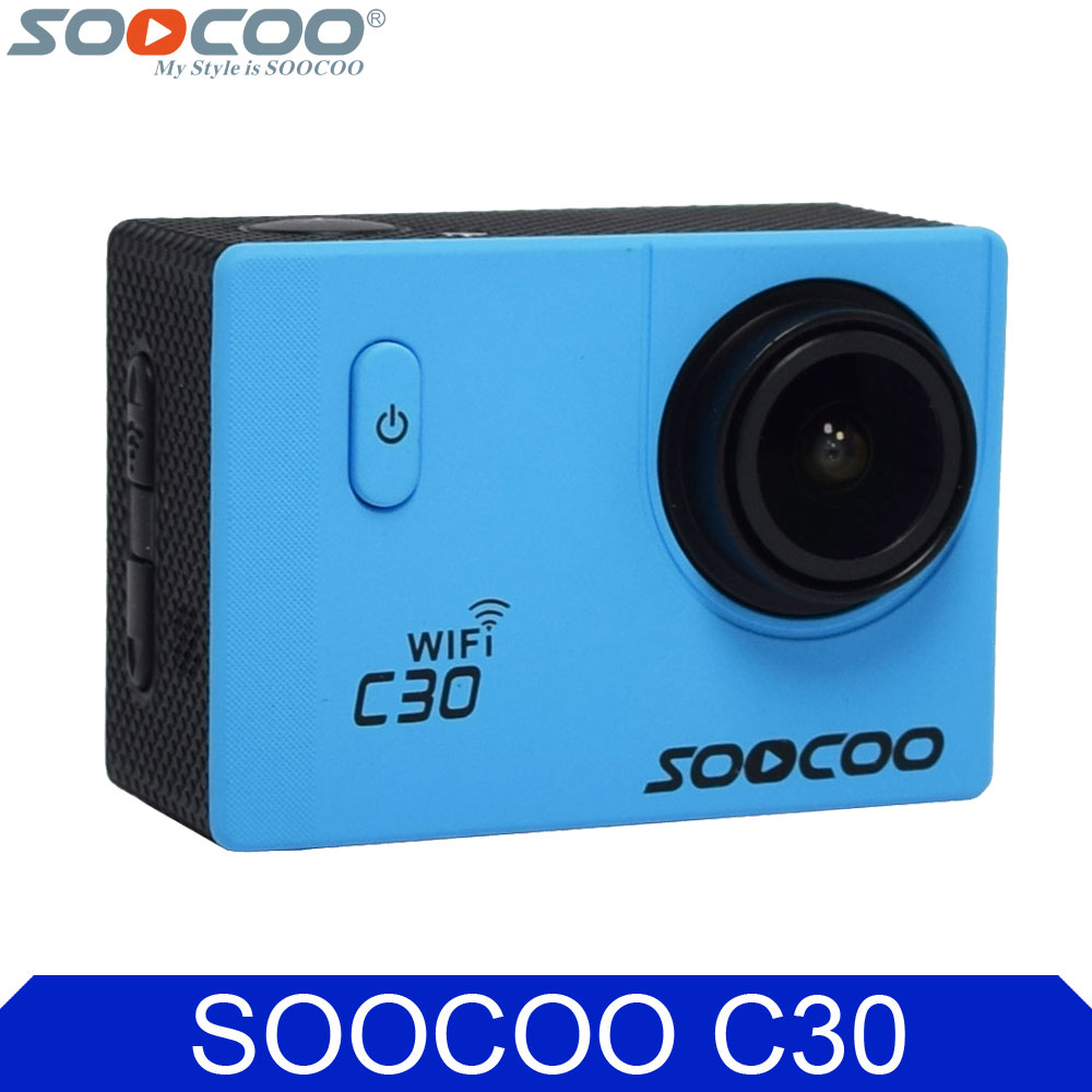 SOOCOO C30 Wifi 4K 24fps Original Action Video Camera Gyro Stabilizer 30M Waterproof Diving Mini Sport DV VS SJ5000X Camcorder soocoo c30 sports action camera wifi 4k gyro 2 0 lcd ntk96660 30m waterproof adjustable viewing angles