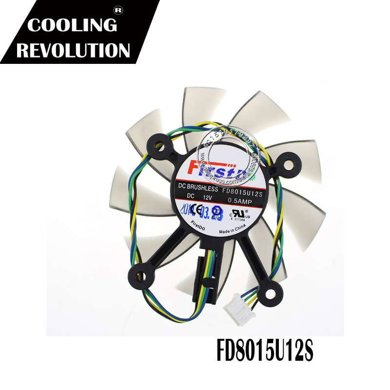 75MM FD8015U12S DC12V 0.5AMP 4PIN Cooler Fan For ASUS GTX 560 GTX550Ti HD7850 Graphics Video Card Cooling Fans