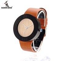 BOBO BIRD H13 New Watch Women Brand Wooden Watch With Genuine Leather Band Luxury Analog Quartz