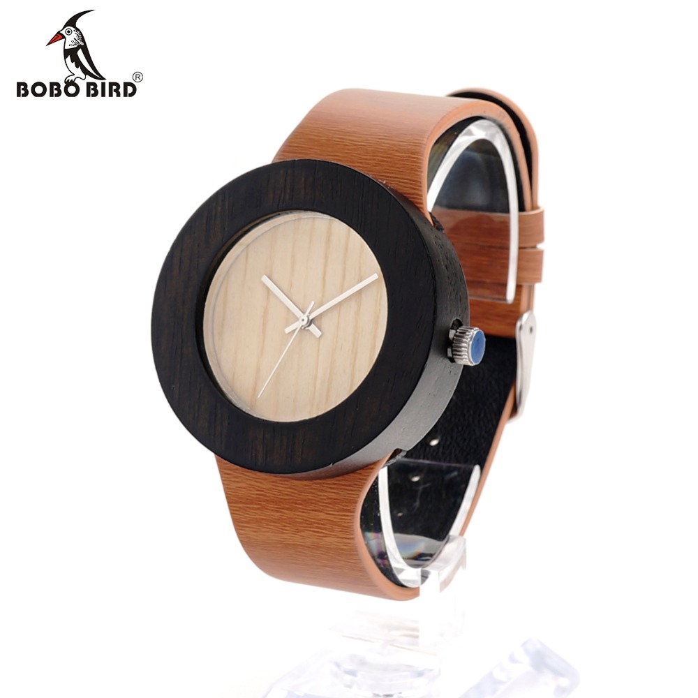BOBO BIRD H13 New Watch Women Brand Wooden Watch with Genuine Leather Band Luxury Analog Quartz Watch for Ladies Watch For Gift new top grade gift pure tan wooden type h chun tan mu shu h kuan