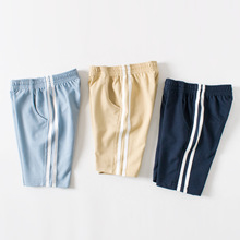 Summer new kids five pants boys and girls cotton casual striped baby clothes for sports  2-8 Y