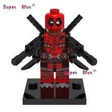1 pcs star wars super-heróis vingadores marvel Deadpool x-men building blocks define bricks modelo de ação brinquedos para as crianças
