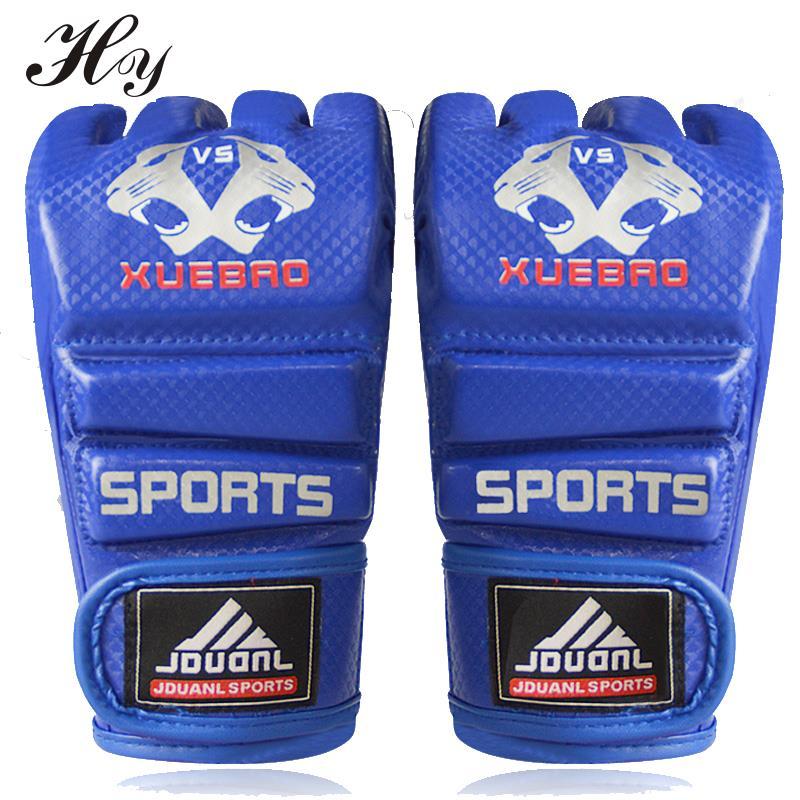 Красные, черные, синие песочницы, перчатки ММА, полубоевые боксерские перчатки, Мужские боксерские перчатки, боксерские перчатки для тренир...