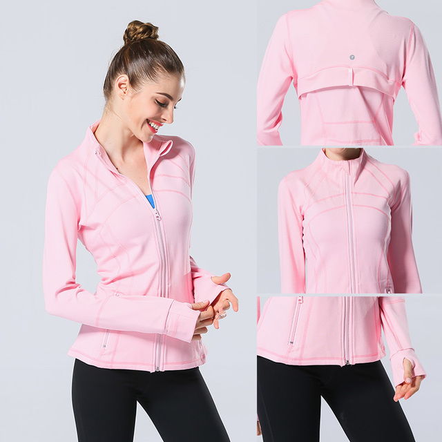 Long Sleeved Hooded Sports Jacket for Women
