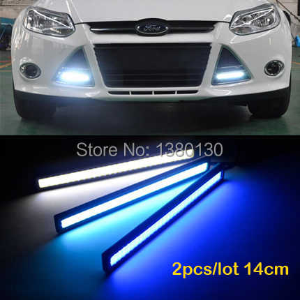 2pcs  Ultra-thin 6W 14CM COB Chip New Update 84 LED Daytime Running Light 100% Waterproof LED DRL Fog Car Lights Parking