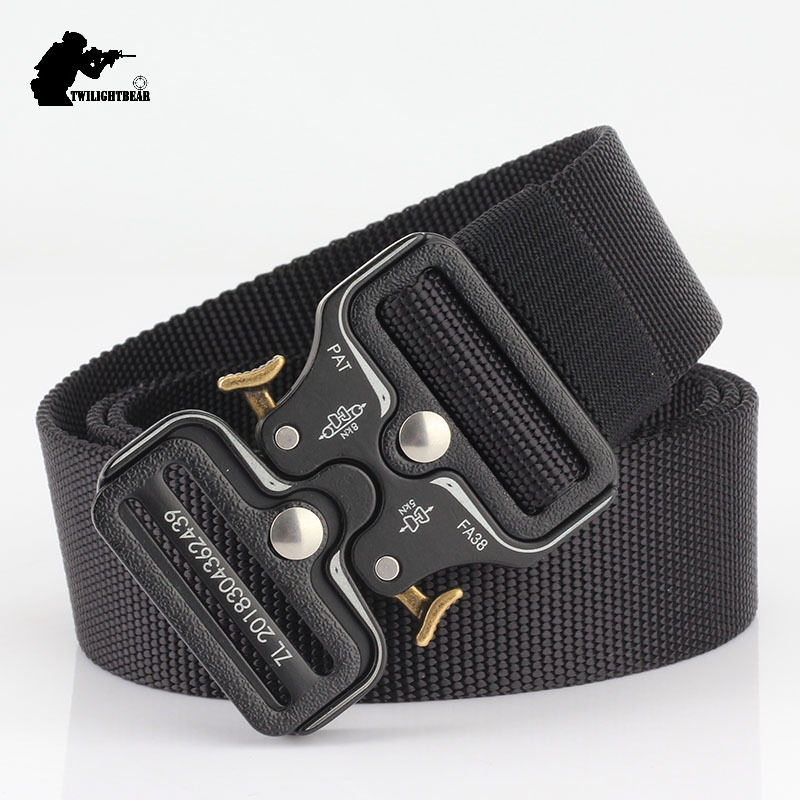 New Cobra Tactical Belt 120cm High Quality Alloy Buckle Nylon Casual Canvas Belt For Men And Women Military Training Belt BE100